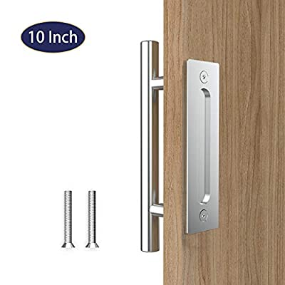 """Orgerphy 10"""" Stainless Sliding Barn Door Pull Handle Round Shape 