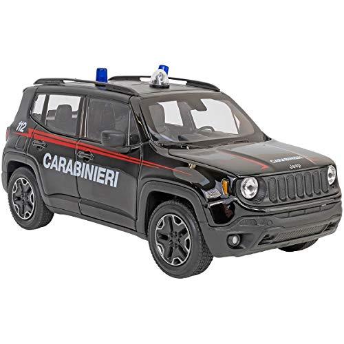 Globo, 1:24 Die Cast Jeep Renegade trailhwak versión b Modellino Auto carabinieri, Multicolore