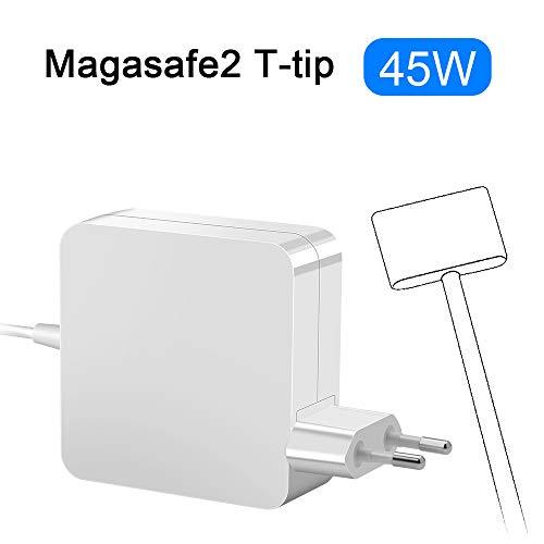 Opluz kompatibel mit MacBook Air Ladegerät 45W MacBook Air Charger Magsafe 2 Magnetische T-Spitze Power Adapter Ladegerät Netzgerät Ersatz Ladegerät Repacement für MacBook Air 11 und 13 Zoll Mi 2012