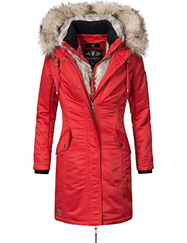 Navahoo Damen Wintermantel Winterparka Daylight Rot Gr. XXL