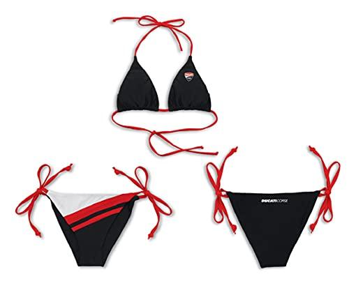 Ducati 98768886 Corse Neckholder sexy Triangel Bikini schwarz-Weiss-rot (XL / 42)