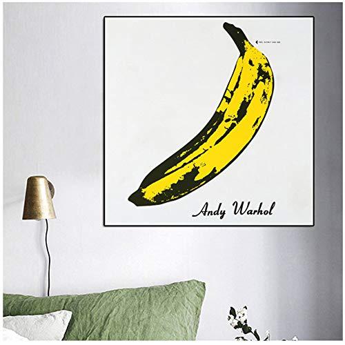 NIEMENGZHEN Leinwandmalerei Andy Warhol Bananenbild Klassische Poster und Drucke Wandbilder für Wohnzimmer Dekor Druck auf Leinwand 80 x 80 cm (31,4