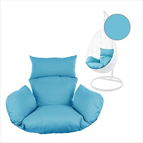 Kideo® Sitzkissen für Hängesessel, Swing Chair Kissen, Ersatzkissen, Wechselkissen, waschbar, 2-teilig, blau, einfarbig (Nest, 5050 Sky Blue)