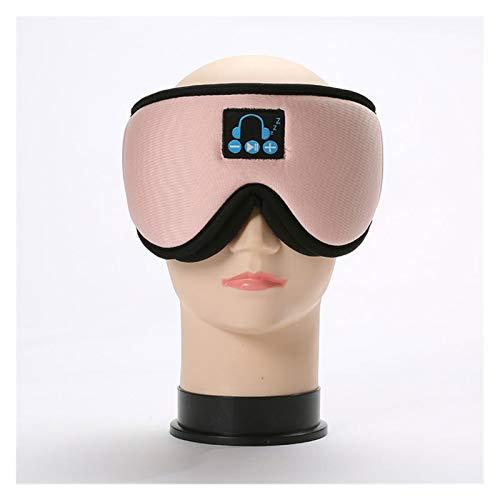 3D Bluetooth Musik Augenmaske integrierter Lautsprecher Mikrofon Bluetooth Einstellbares Schlafmaske Wireless Schlafkopfhörer (Color : Pink)