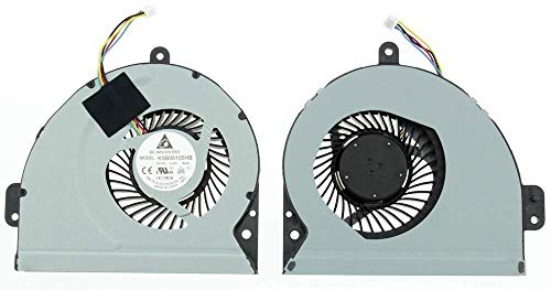 Générique Ventilador de refrigeración para ASUS A43 A43S A43SJ A43E X43 X43S X43B X43SC K43 K43SJ K43Z A53S A53E X53 X53E XR1 X53L X53SA K53E K53E K53S K53SD K53T K53Z