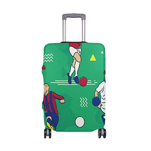 MyDaily Fußball- / Fußballspieler-Gepäckabdeckung, passend für 45,7-81,3 cm Koffer, Spandex, Reiseschutz
