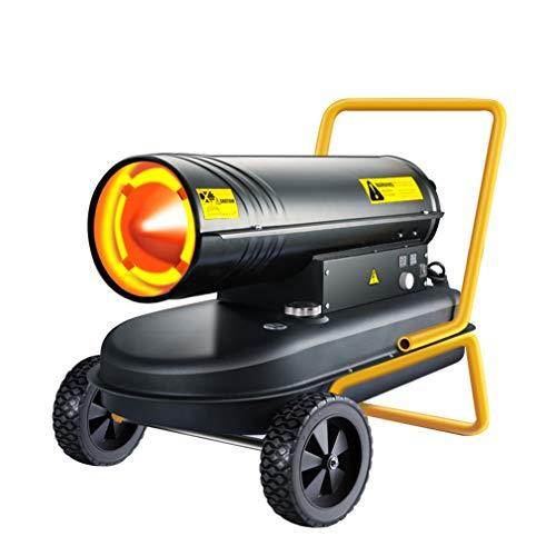 EVEN Calentador de aire forzado de queroseno / diésel con termostato, con corte automático de seguridad contra sobrecalentamiento: talleres, cobertizos, almacenes, sitios de construcción o cría, et