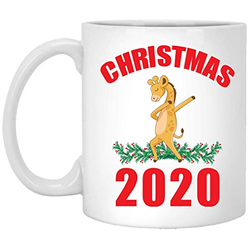 Divertido regalo de Navidad 2020 para amantes de la danza de jirafas, taza de café de 11 onzas