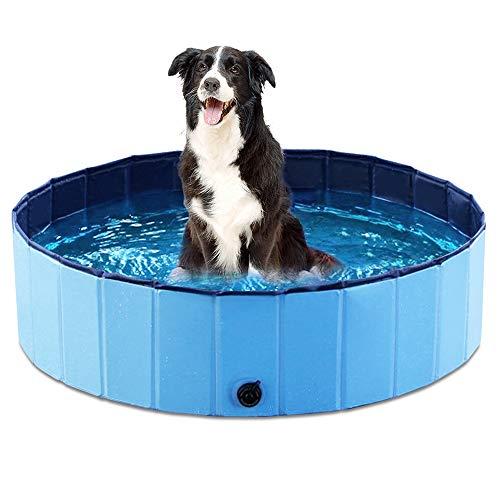 Jasonwell Foldable Dog Pet Bath Pool Collapsible Dog Pet Pool Bathing Tub Kiddie Pool