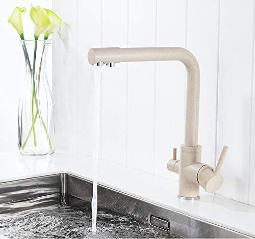 Chongyang latón mármol pintura grifo de agua potable 3 vías filtro de agua purifier grifo de cocina para lavabos grifos de agua