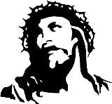 H421ld Pegatina de vinilo para ventana de coche, camión, portátil, cara de Jesucristo
