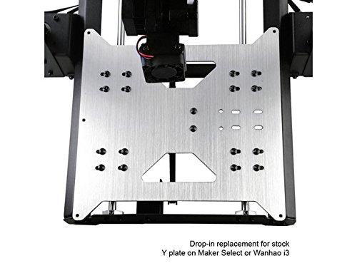 Upgrade Y Carriage Plate para Wanhao Duplicator i3 / Monoprice Maker Select V1 / V2 / V2.1 / Plus Impresora 3D