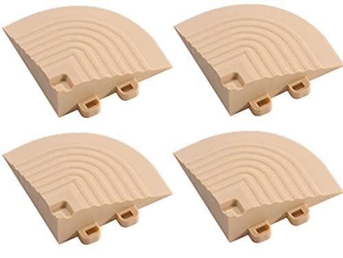 BodenMax Set di 4 Angoli ad Incastro per Piastrelle Componibili BodenMax – Accessori per Piastrelle ad Incastro  Beige 7,5x7,5x2,4cm