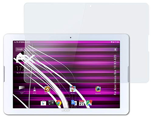 atFolix Glasfolie kompatibel mit Acer Iconia One 10 B3-A20 Panzerfolie, 9H Hybrid-Glass FX Schutzpanzer Folie