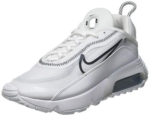 Nike Damen W AIR MAX 2090 Laufschuh, White/Black-Wolf Grey, 39 EU