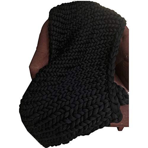 FXYY Chunky Knit Blanket zachte blokkering handgemaakte Throw voor slaapkamer bank decor geschenk voor boerenhuis bank bed super groot