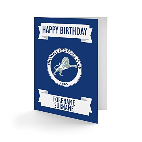 Official Personalised Millwall FC Crest Birthday Card
