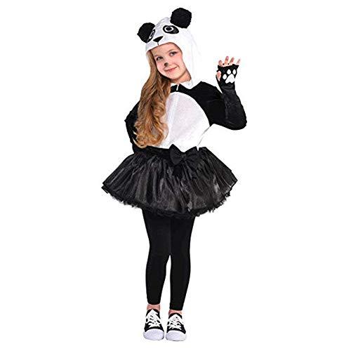 amscan 848099 Girls Panda Costume, Toddler Size (3-4 Years Old)