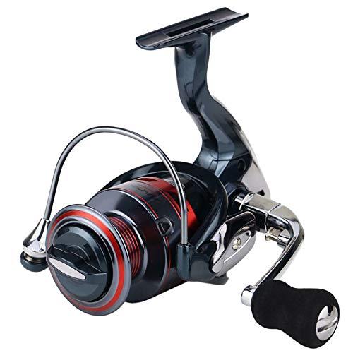 AIWKR Carrete De Pescar,Ligero, Ultra Suave, Potente, De Agua Dulce Agua Salada Viajes,Carrete De Pesca Ligero Y Portátil