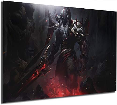 Póster de Lea-gue of Leg-ends con impresión abstracta de Bloodmoon Aatrox para videojuegos, pintura moderna, decoración de pared, 61 x 91 cm sin marco