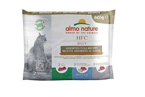 Almo Nature Jelly, Recetas surtidas con atun para gato adulto, pack de 6