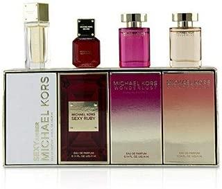 Michael Kors Eau de Parfum 4-Piece Variety Set, Sexy Amber, Sexy Ruby, Wonderlust Sensual Essense, Wonderlust