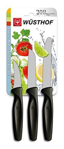 Wüsthof TR9333 Colors Set de 3 Couteaux avec Manche Noir