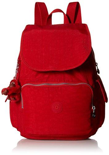 Kipling Ravier Medium Flapover Backpack Cherry