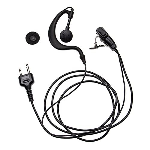 vhbw Auriculares para Cobra MT-110, MT-220, MT-305, MT-500, MT-525, MT-700, MT-725, MT-900, MT-925, PMR-250, PMR-300 Radio, Walkie Talkie