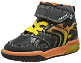 Geox J INEK Boy C, Zapatillas Altas para Niños, Negro (Black/Orange C0038), 24 EU