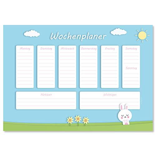 Vade de escritorio 'Hasi' de papel, DIN A3, 24 hojas, para niños y adultos, ideal como bloc de notas, organizador, planificador semanal y planificador diario