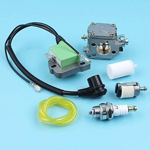 Kit de línea de filtro de combustible de bobina de encendido de carburador compatible con Husqvarna 268272 272XP 61266 motosierra # 5032803-16/5039014-01 bujía