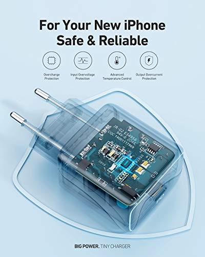 AUKEY USB C Ladegerät 20W für iPhone 12, Schnellladen Netzteil mit PD 3.0 & QC 3.0, USB C PD Ladegerät für iPhone 11 Pro Max Mini SE XR, Galaxy, Pixel, iPad Pro Air Mini, Switch, Kindle, Magsafe