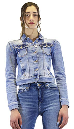 Denny Rose Jeans Giubbotto in denim con borchie. 111ND36001_00 Taglia eu/it L