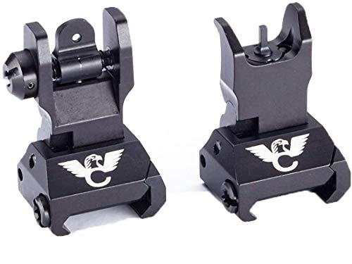 Wilson Combat - Front & Rear Aluminum Flip Up Pro Sight Set with Decal