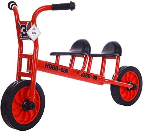 YONGYONGCHONG Carretilla Niño Equilibrio Vespa de la Bici sin Pedales, de Dos Ruedas de Bicicletas, Goma de ciclomotores, Bicicletas Cochecito Triciclo (Color : Red Two-Seater)