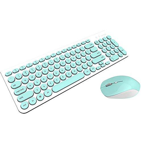 GCCLCF Drahtlose Maus, [schlank und leise] Patuoxun 2.4G USB PC Laptop drahtlose Maus mit Nano-Empfänger, grün