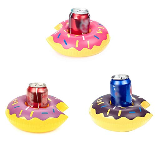 Opblaasbare donutdrank kan bekerhouder Hot Tub Zwemmen bekerhouder, opblaasbare beker Pool Party Bath Soda Bottle Coaster