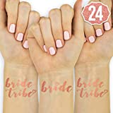 xo, Fetti 24 Rose Gold Bride Tribe Metallic Tattoos | Bachelorette Party Decorations, Bridesmaid Gift + Bride to Be Favor