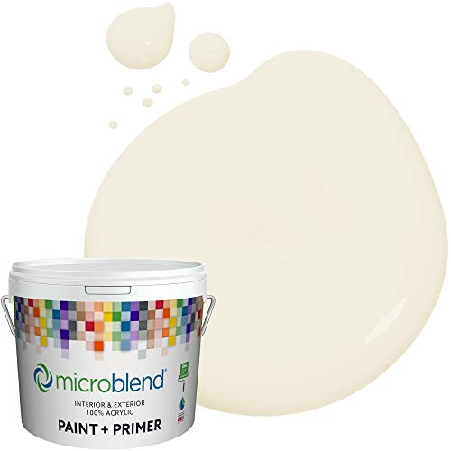 Microblend Interior Paint and Primer - Beige/Angelique, Sample, Premium Quality, One Coat Hide, Low VOC, Washable, Microblend Tahoe Collection