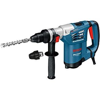 Bosch Professional GBH4-32DFRProfessional Perforateur GBH 4-32 DFR (900 W, SDS Plus, Force de Frappe Maxi : 4,2 J, Butée de Profondeur : 310 mm, dans Coffret) Bleu