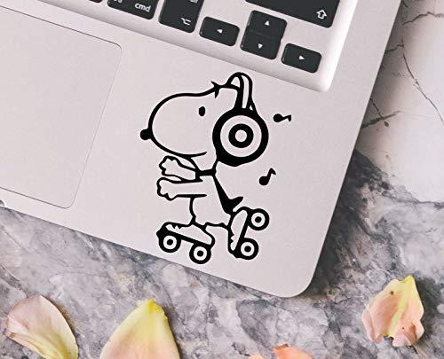 myrockshirt Lustiger Comic Hund auf Rollschuhen mit Kopfhörern Snoopy Aufkleber,Sticker,Decal,Autoaufkleber,UV&Waschanlagenfest,Profi-Qualität