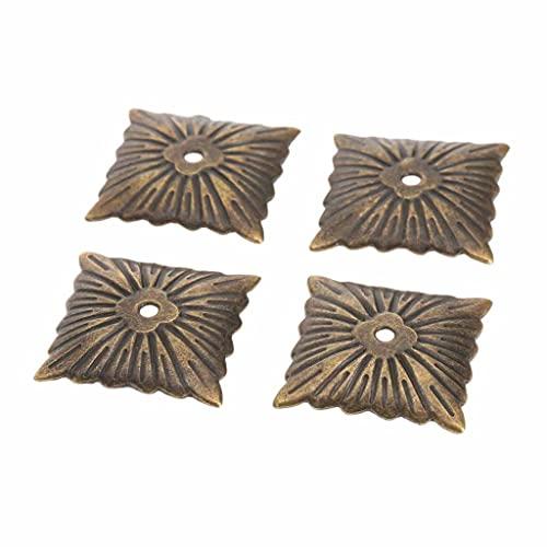 WODMB 100 unids 21x21mm Tapicería Nails Antiguo Bronce Decorativo Tapicería Uñas Tachuelas Tachuelas Puerta Sofá Decoración para el hogar Hardware