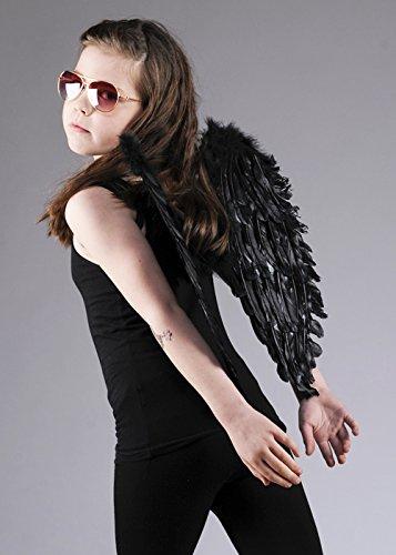 Enfants taille des ailes d'ange plume noire