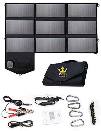 KYNG 60W Portable Solar Panel Solar Charger Foldable Power Portable 60...