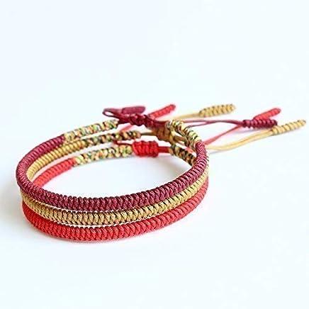 15d6826377 TALE Lucky Rope Bracelet Tibetan Buddhist Handmade Knots - Balance