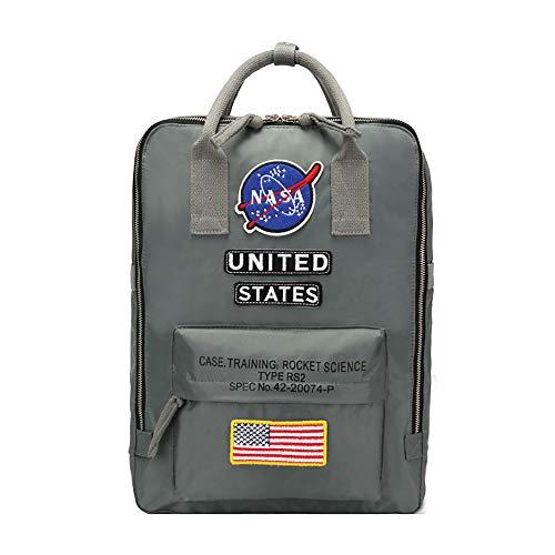 NASA School Bag Bolsa Mochila Casual Mochila for portátil Impreso de Negocios Mochila...