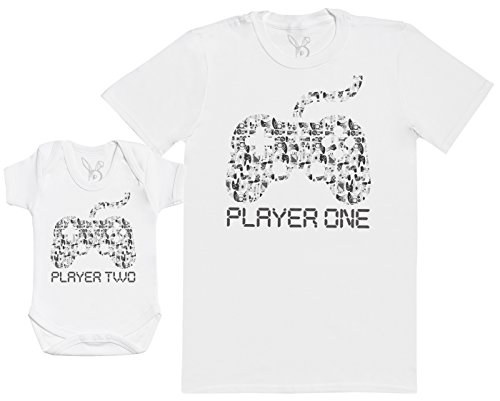 Player One & Player Two - EIN Teil - Teil des Sets - Weiß - 3-6 Monate - Baby/Kinder