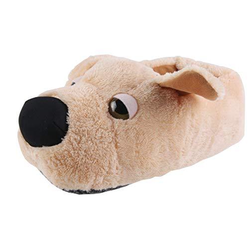 Tierhausschuhe Kinder Hausschuhe Golden Retriever Hund, Beige, 40/41, TH-SPWBBN