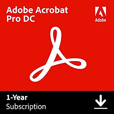 Adobe Acrobat Pro DC | PDF converter | 12-month Subscription with auto-renewal, PC/Mac by Adobe